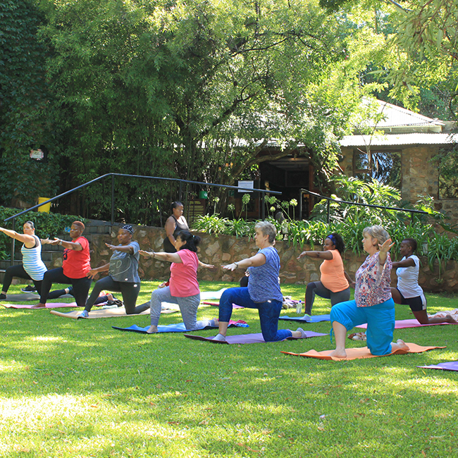 Yoga Session at Misty Hills