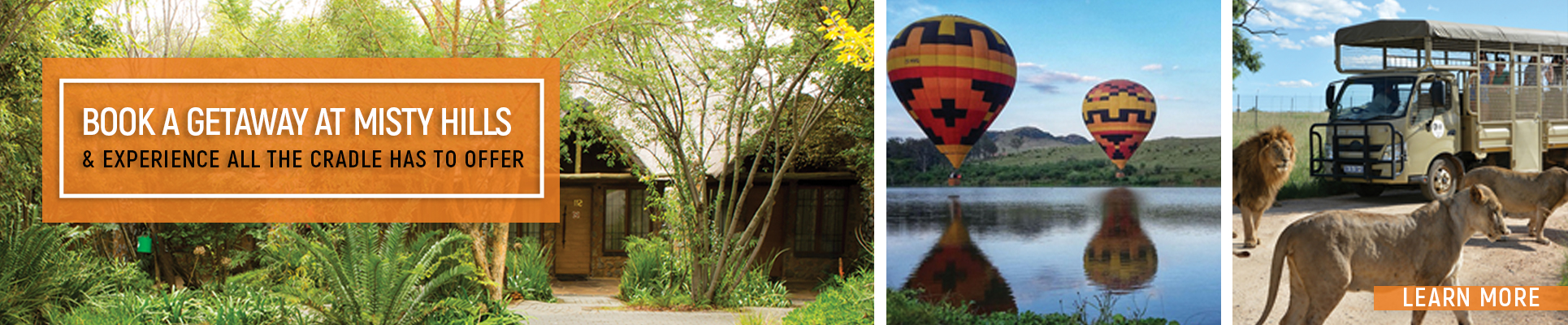 Misty Hills Country Hotel Cradle of Humankind Experience including Maropeng, Lion Park Safari Tours