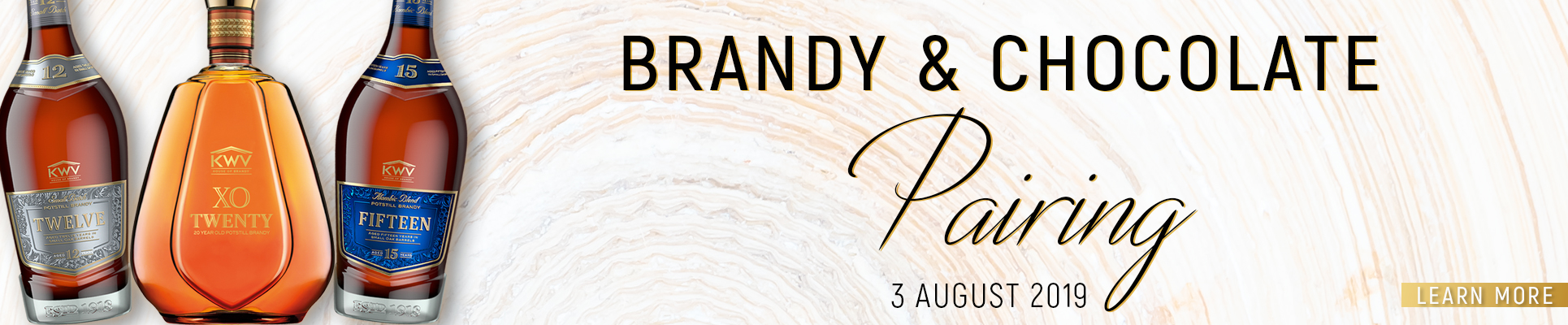 Brandy & Chocolate Pairing at Misty Hills Country Hotel   BRANDY & CHOCOLATE PAIRED WITH A 5 COURSE MEAL  Join us on the 3rd of August for a cosy evening where Frey Chocolat will be complementing the distinctive flavours of the below KWV brandy.